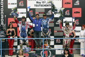 Il Team di Ilario Ricci monopolizza il podio del GP di Germania con 1º Andrew Mc Farlane, 2º Davide Guarneri e 3º Chicco Chiodi